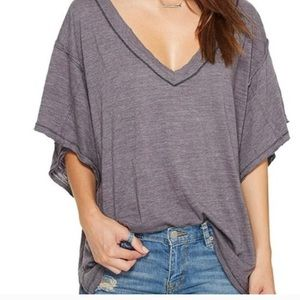 Free People oversized v-neck tee
